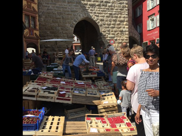 street market in the streets of rottweil germany