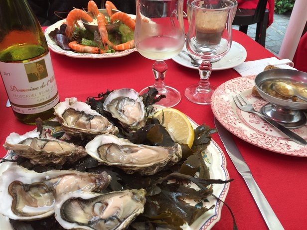 oysters and charonnay