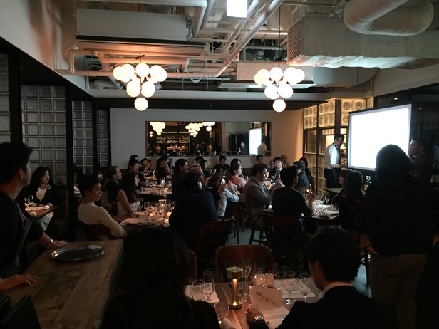 a full house at our wine dinner!