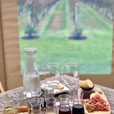 Tasting Flights on a Monday? Done. 🧀🍇. We've winter-proofed our Terrace so you can keep drinking in the wine and the views minus the cold! 🌞 . . . . . . . . . .  #wolffer #wolfferwine #wolfferestate #wolfferestatevineyard #wolfferstyle #wine #winemaking #winelover #winetasting #wolffercider #wolfferrose #rosecider #rosécider #winter #roséallday #Rosé #roséseason #applecider #summerdrink #pinkdrink #sparkling #bubbly #summereats #pooldays #beach #montauk #hamptons #eastend #nyc