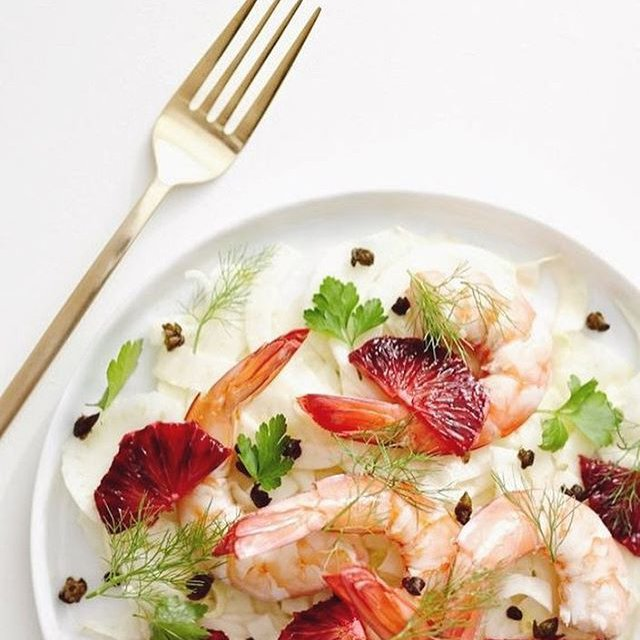 """Comment: wolfferwine said """"Dinner inspo 🍽✨🍤 Light and seasonal and perfect for pairing 🍷 What would you drink with this - Red, White or Rosé?"""""""